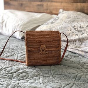 Woven over the shoulder bag